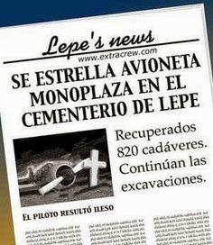 Se estrella una avioneta monoplaza en el cementerio de Lepe   TVEstudio