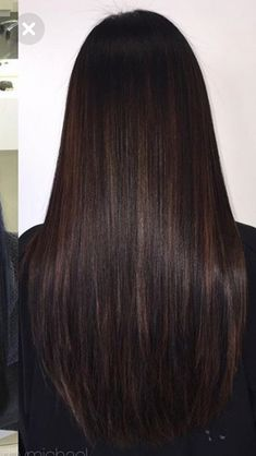 Long Dark Brown Shag with Textured Bangs - 20 Stunning Long Dark Brown Hair Cuts and Styles - The Trending Hairstyle Brown Hair With Blonde Highlights, Brown Hair Balayage, Bronde Hair, Hair Highlights, Ombre Hair, Chocolate Highlights, Light Brown Hair, Dark Hair, Dark Brown Hair Rich