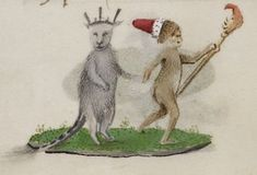 The Book of Hours for Joanna the Mad (Detail of an unlikely pair of friends).