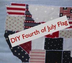 DIY 4th of July Flag