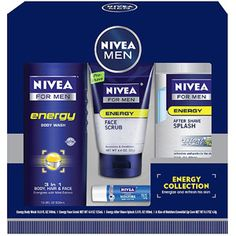 Nivea for Men Energy Collection Gift Set, 4 pc  $10  Cruelty Free Product!