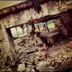 Ruins of the crematorium II at the Auschwitz II-Birkenau site.