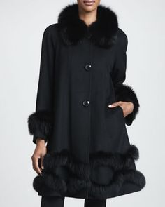 Cashmere Fur-Trim Stroller Coat by Belle Fare at Neiman Marcus.