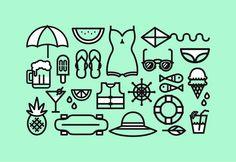 Felicia Felina — I like summer. I made these illustrations that...