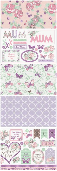 Download these gorgeous free printable Mother's Day papers from the Papercraft Inspirations magazine website!