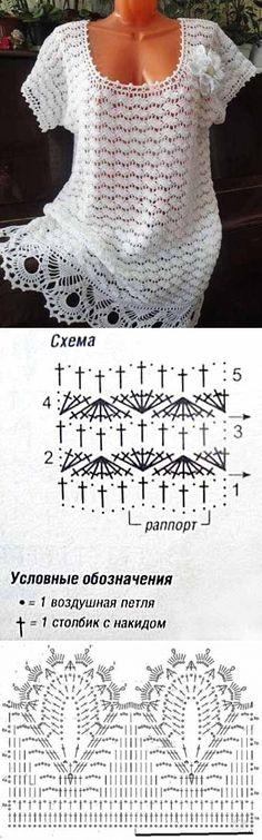 Красивый узор для летней блузы
