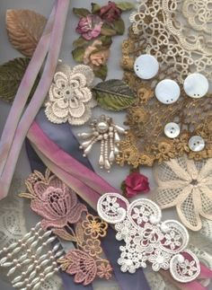 Trims & embellishments for crazy quilting, scrapbooking, stamping & crafting.