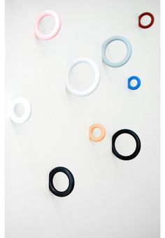 Gym Hook hangers designed by Staffan Holm for Hay (via Fine Little Day). Christmas gift for Leo Scandinavian Home Interiors, Diy Clothes Rack, Clothes Hangers, Hay Design, Color Ring, Shops, Coat Hanger, Home And Deco, Wall Hooks