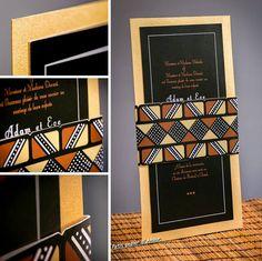 Invitation de mariage modèle Kassa  par Lepetitpapierdamour sur Etsy African Wedding Theme, African Theme, African Wedding Dress, African Weddings, Zulu Traditional Wedding, Traditional Wedding Invitations, Wedding Paper, Wedding Cards, Diy Wedding