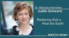 """Dr. Mercola Interviews Judith Schwartz About Restoring The Soil To Heal The Earth."" Judith Schwartz in the author of ""Cows Save the Planet."""