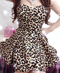 Leopard print dress, want it.