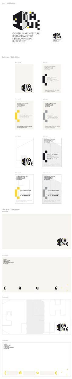 Identité visuelle CAUE du Finistère (Design Owen Poho)