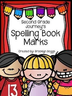 This product includes two spelling bookmarks per spelling list. The spelling lists follow the second grade Journey's curriculum. Each bookmark…