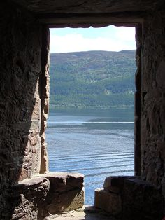 Urquhart Castle ruins - Loch Ness, Inverness, Scotland. Also home to the Loch Ness Monster.