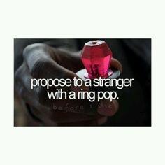 I'm a girl!  So I'll be the one to propose to boys?  Good luck to me😌🙏