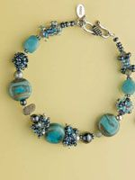 Free e-book on beaded beads includes my Treasures of Atlantis bracelet with its textural beaded spacers - by Lynn Davy