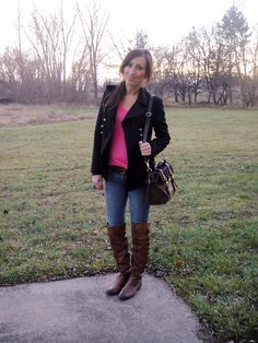 5d9c37089 She shops at Target.. great style! Leopard Print Scarf, Pink Accents,