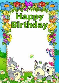 Cute blue kids png photo frame with flowers and bunnies craft-art. Boarder Designs, Page Borders Design, Happy Birthday Frame, Birthday Frames, Disney Frames, Boarders And Frames, School Frame, Framed Wallpaper, Png Photo