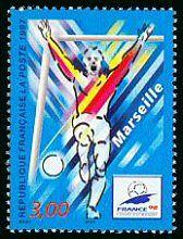 Marseille Coupe du Monde de Foot-Ball - FRANCE 98 - Timbre de 1997