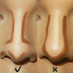 8 Pretty Simple Makeup Hacks That Will Make You Look Gorgeous Easily – Top Popular Make-Up Nose Contouring, Contour Makeup, Skin Makeup, Highlighter Makeup, Concealer, Face Makeup Tips, Makeup Drawing, Makeup Eyebrows, Makeup 101