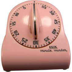 Vintage 1950's Pink Lux Minute Minder Kitchen Timer