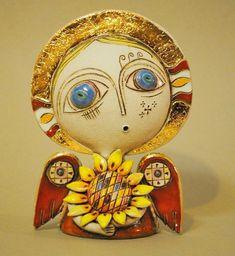 adelaparvu.com despre obiecte de arta din ceramica, ceramica pictata, ingeri din ceramica, artist Aram Hunanyan (12)