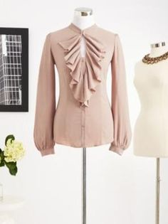 Eva Mendes Collection - Paige Ruffle Shirt