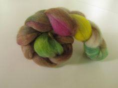 Hand Dyed Roving Corriedale Wool - Seaside Orchid Tree by luccadotyarn on Etsy