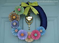 Spring Pinwheel Wreath