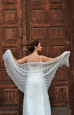Knitted Lace Shawl Made to Order Wedding by IvetaStasiulioniene