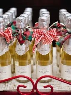 An Adorable Affordable French Mini Bottle Of Bubbly Perfect For Partyfavors Adult Christmas Party