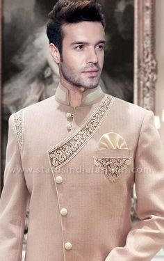 sherwani, indian wedding wear, groom sherwani, best sherwani wedding wear The Effective Pictures We Offer You About cool Groom Outfit A quality picture can tell you many things. You can find t Indian Groom Wear, Indian Wedding Wear, Sherwani Groom, Wedding Sherwani, Indian Men Fashion, India Fashion, Boy Fashion, Mens Ethnic Wear, Indie Mode
