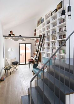 Oh yes please!! Hammock in the house✅ entire wall of bookshelves ✅ my dream
