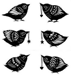 Baby Bird Paper Cuttings   Flickr - Photo Sharing!