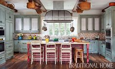 Pretty, Functional Kitchen for a Foodie | Traditional Home