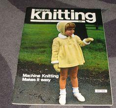 . MACHINE KNITTING MAGAZINE - MODERN KNITTING OCT 1970