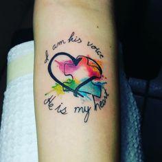 Autismo, autism awareness tattoo