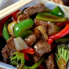 I love stir-fry.  This is an easy recipe with just the right amount of spice.   If you cut your veggies ahead of time and keep your wok extremely hot stir-fry is a piece of cake!  All you really need is the ability to work your chop sticks well! Print Yum Spicy Beef & Pepper... Read More »
