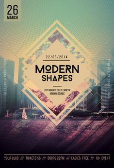 Modern Shapes Flyer by styleWish (PSD template on Graphicriver)