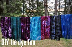 #DIY tie dye fun via lifeovereasy http://lifeovereasy.com/ #tiedye #fabric