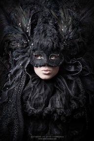 Black Feather Mask.