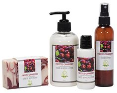 Natural non phthalate fragrance. Best selling gift set perfect for fall and winter. Frosted cranberry room spray, lotion, and soap. Cranberry Bars, Wooden Soap Dish, Lemongrass Spa, Spa Items, Healthy Skin Care, Lemon Grass, Holiday Gift Guide, Bar Soap, Body Lotion