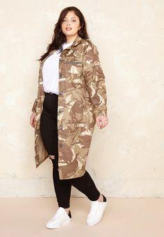 The Camo Jacket £75.00  Plus Size Fashion ♥ | One One Three | Sizes 18-26