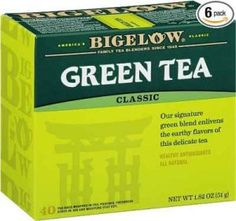 Bigelow Decaffeinated Green Tea Bags, 40 Count Box (Pack of Decaf Green Tea, 240 Tea Bags Total Best Green Tea, Best Tea, Lego Duplo, Decaf Tea, Different Types Of Tea, Green Tea Bags, Green Teas, Gourmet, Natural Remedies