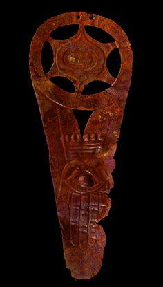 #Precolumbian  --  Copper Pendant  --  Circa 1300-1500  --  Mississippian  --  Moundville; Hale County and Tuscaloosa County; Alabama  --  NMAI