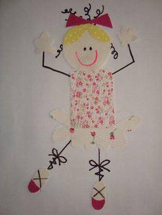 """Aplique """"Bailarina Feliz"""" blog: www.patchworkshow.blogspot.com"""