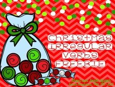 This freebie is a fast and easy way to target irregular verbs during the holiday season!