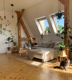 Indie Room, Room Ideas Bedroom, Decor Room, Bedroom Inspo, Wood Bedroom, Diy Bedroom, Teen Bedroom, Brick Wall Bedroom, Blue Bedrooms