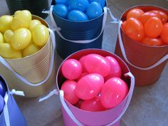 Easter Egg Hunt Idea-- Kids collect 'their' color ONLY