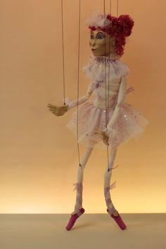 marionette Ballerina marioneta puppet ooak por Etceteramarionetas